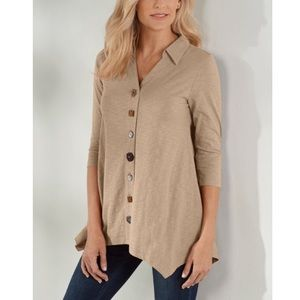 Soft Surroundings Danielle Button Down Top